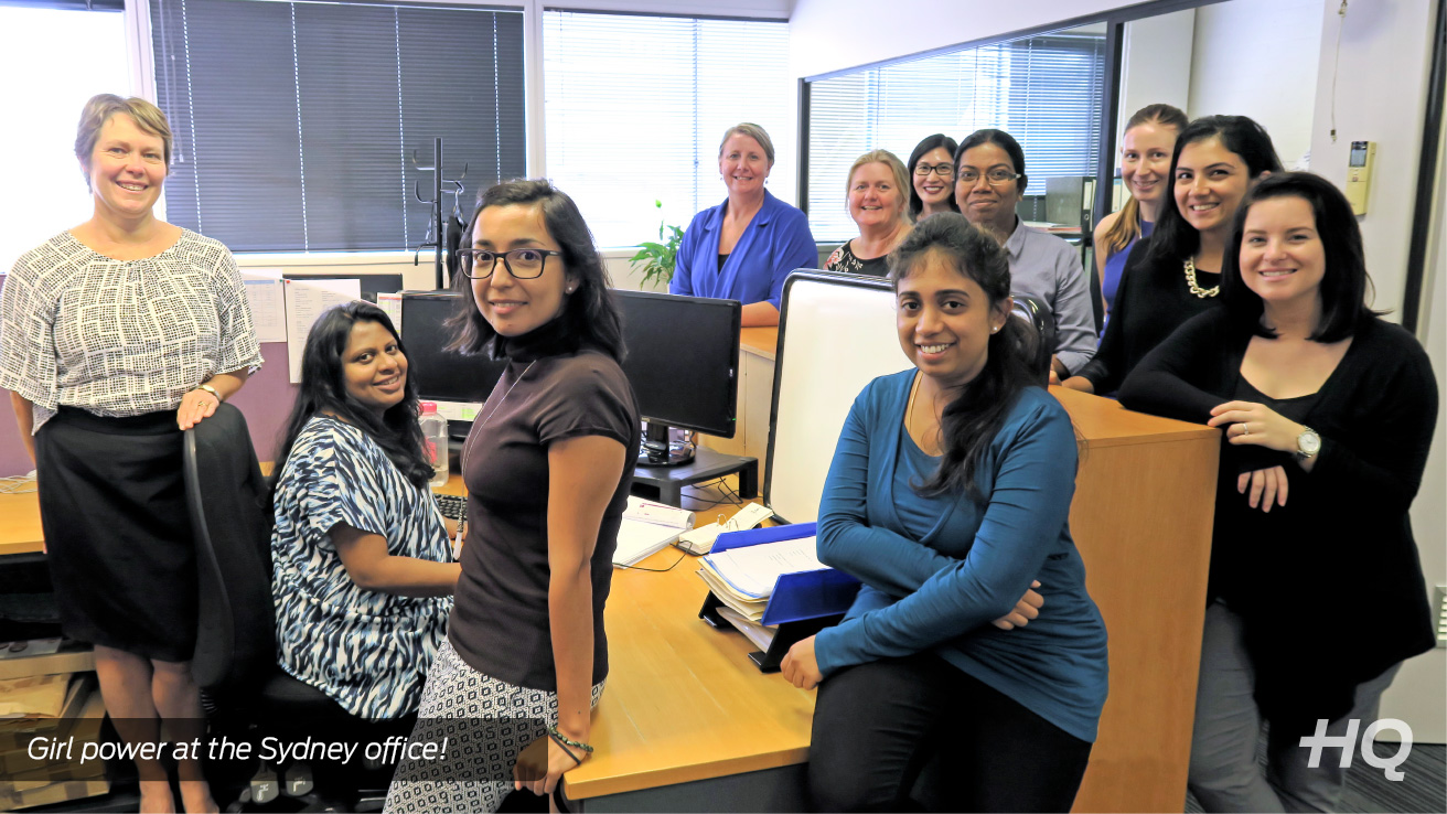 Picture of staff celebrating International Women's Day in our AccessHQ Sydney office